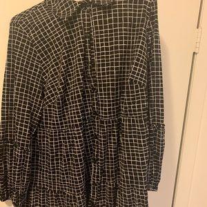 Never worn Nylon long bell sleeve shirt